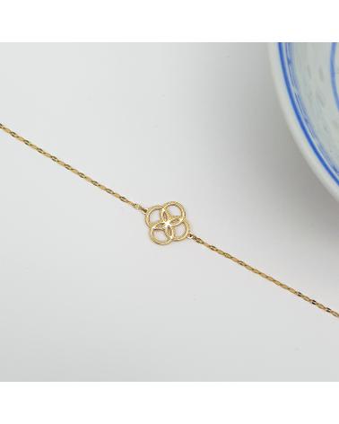 Bracelet rosace en acier inoxydable CHABHA-doré
