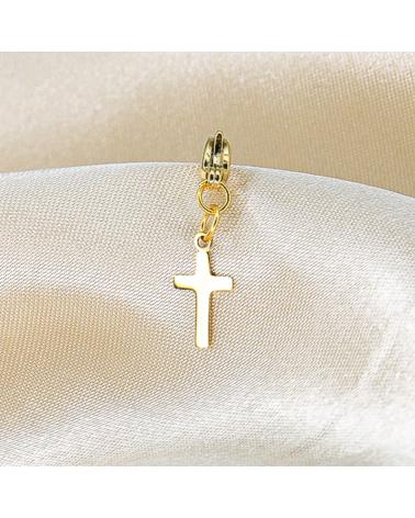 Charms protecteur croix en acier inoxydable DALVA-doré