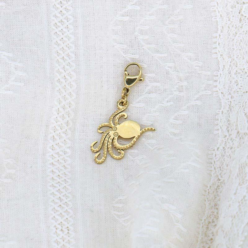 Charms bohème pieuvre en acier inoxydable OCTOPUS-doré